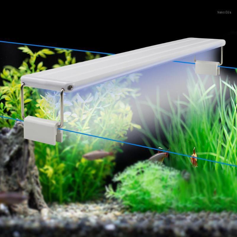 18-58 см Светодиодные аквариумные свет 220 В расширяемую рыбную бак бенсир с держателем клипа для светодиодных аквариумных аквариумных украшений.