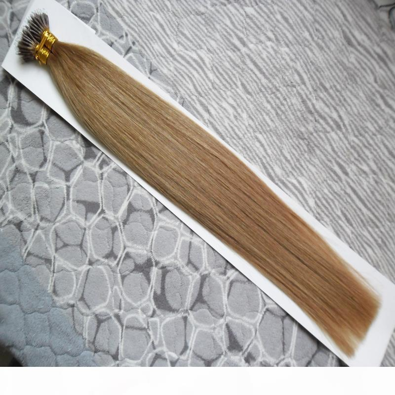 """14 """"18"""" 18 """"22"""" Remy Micro Beads Extensões de cabelo em Nano Anel Links Humano Cabelo 100g Nano Anel 100% Remy Human Hair"""