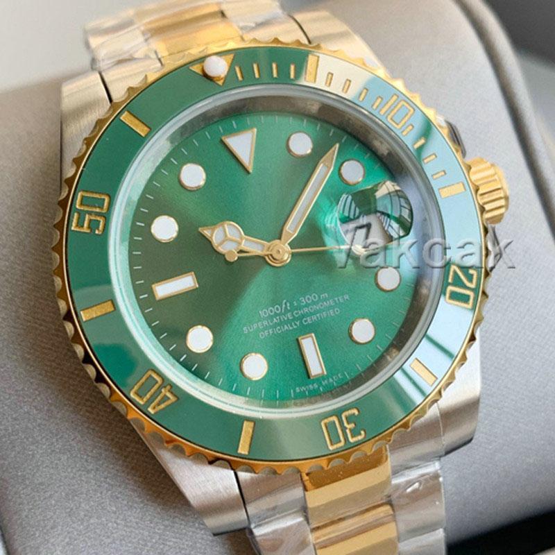 럭셔리 패션 세라믹 녹색 베젤 새로운 망 기계식 SS 2813 자동 운동 시계 스포츠 남자 디자이너 시계 골드 손목 시계