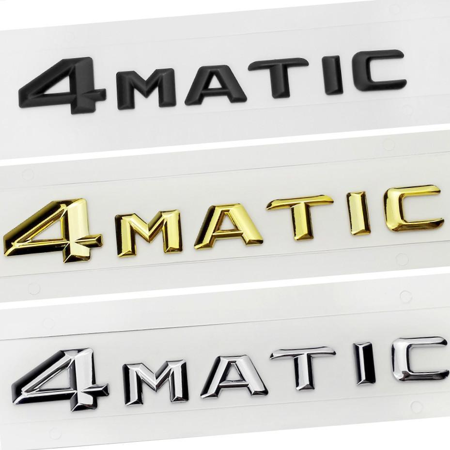 Car Styling 2015 4MATIC 4 MATIC Logo Emblem Badge Decal Stickers for Mercedes Benz S500 GLS63 E320L GLE400 GLK260 R400 CLA45