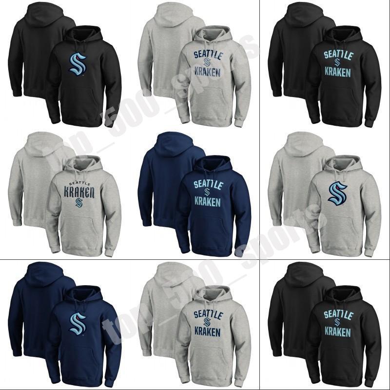 망 2021 시애틀 Kraken 아이스 하키 까마귀 32 번째 새로운 팀 사용자 정의 모든 이름의 모든 이름 모든 스티치 하키 유니폼 스웨터