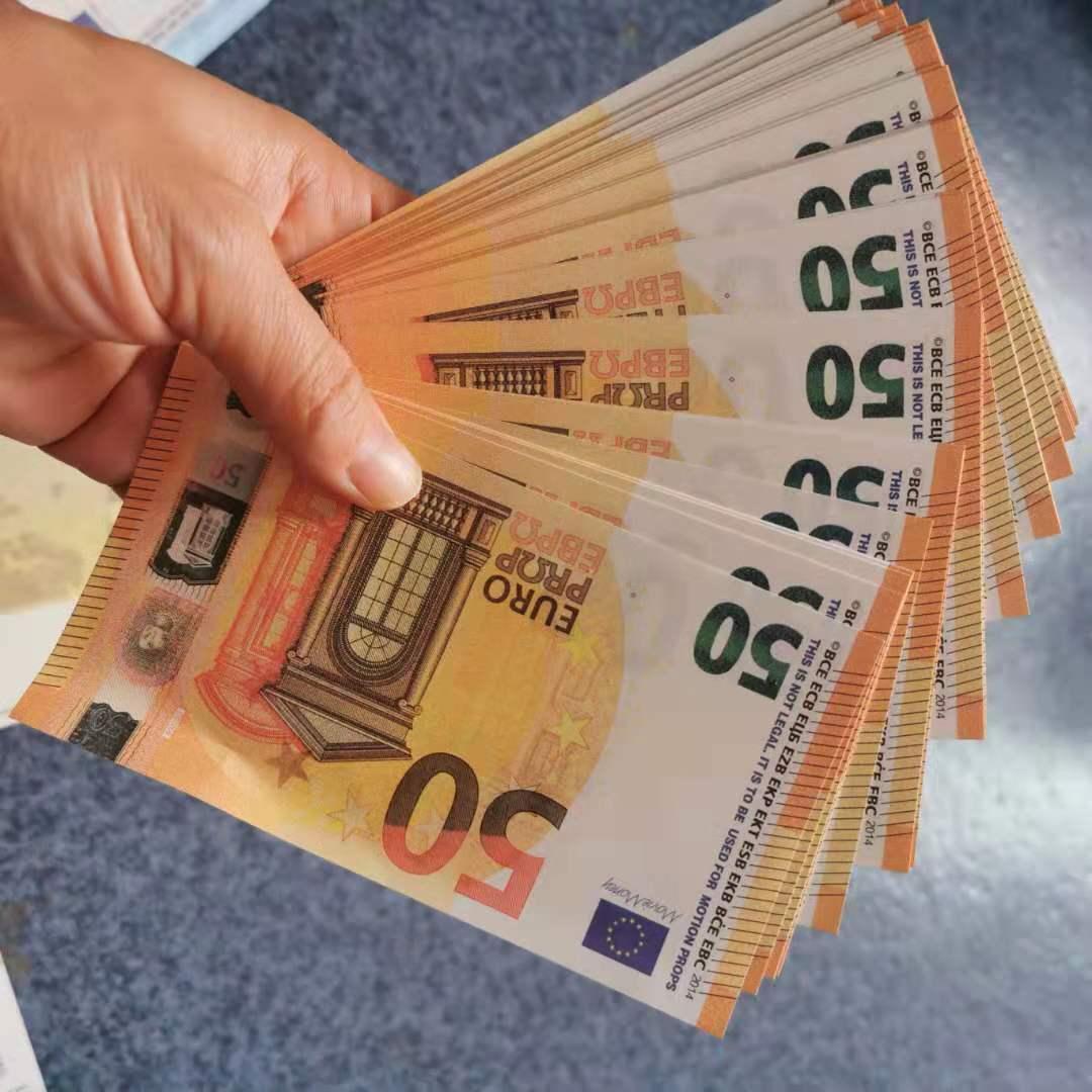 Novedad 10 20 50 100 euros Fake Money Movies PROP Bank Note Cuenta Cuenta Prop Money Festive Fiesta Games Gifts Regalos