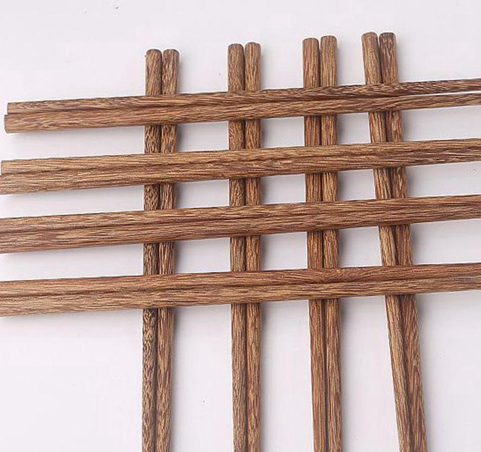 Naturali bacchette di legno senza cera lacca Stoviglie da tavola di cinese classico stile riutilizzabile Natural Sushi bacchette KKA8157