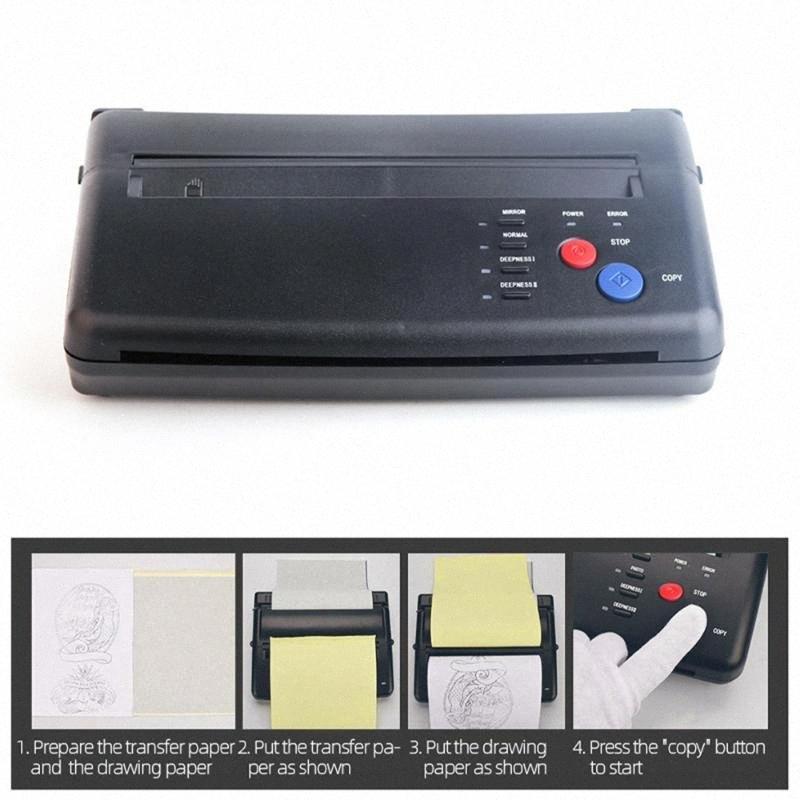 Stencil máquina de tatuaje Dibujo máquina de transferencia térmica impresora copiadora fabricante de la plantilla para la transferencia del tatuaje Suministro de papel 8N8U #