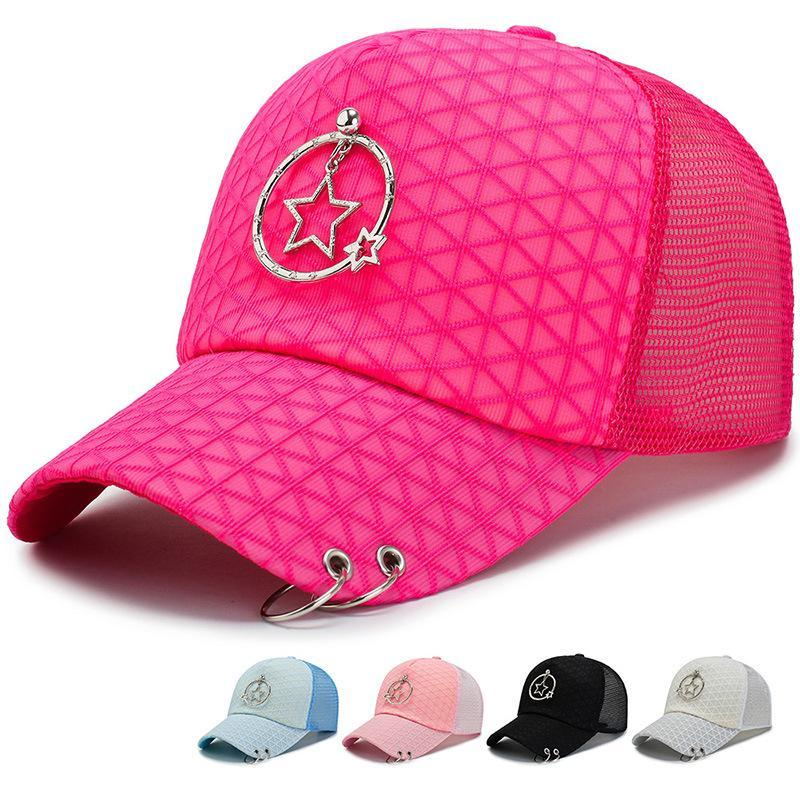 2021 Fashion Women Hat Baseball Cap With Rings Snapback Trucker Hat Dad Women Men Adjustable Golf Ball Sport Casual Sun Cap