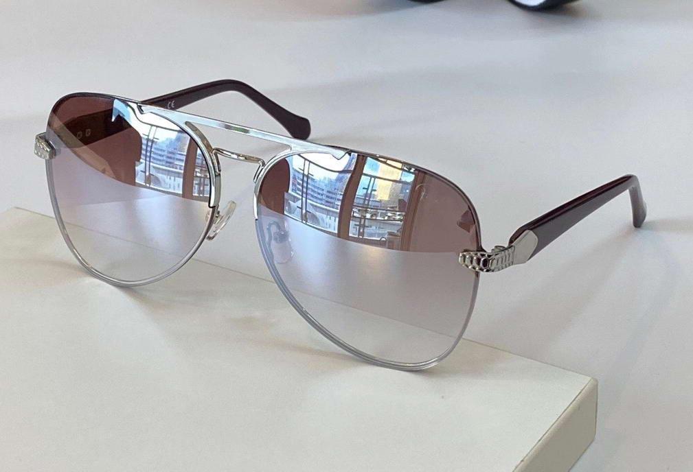 1091 espelho de prata piloto piloto óculos de sol de quadro sem aro mulheres desgin óculos de sol com caixa