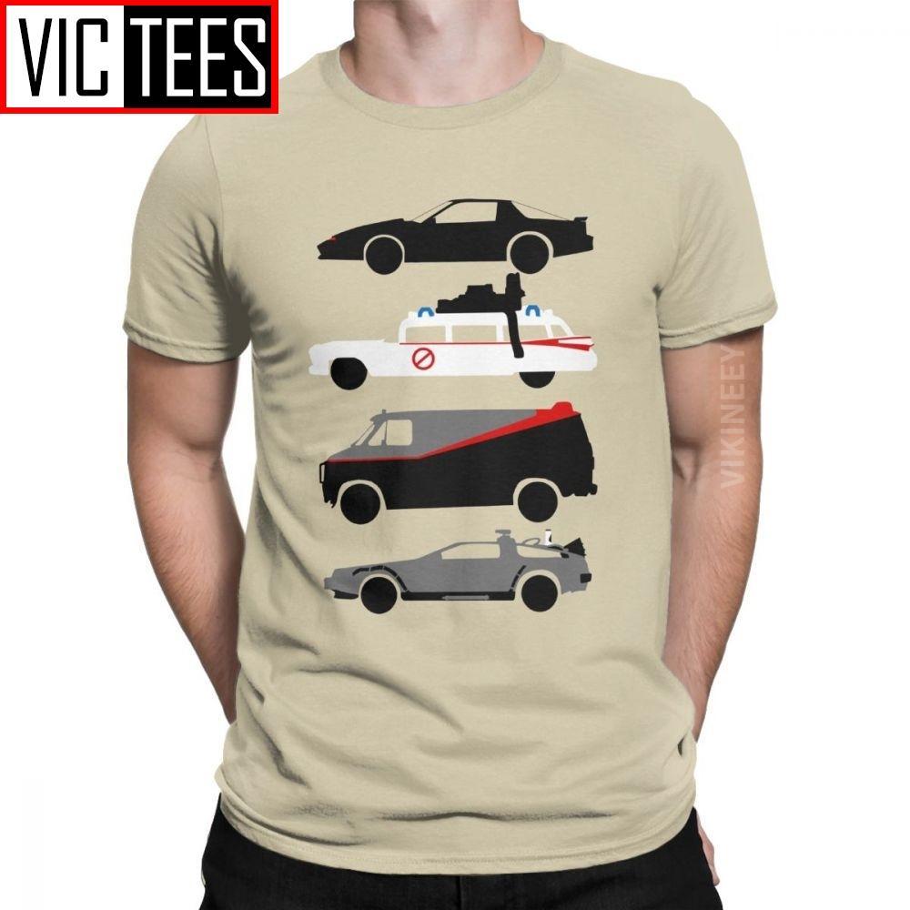 Knight Rider Kitt Ghostbustears Männer-T-Shirt Das Auto der Star beiläufige O-Hals-T-Shirt Sport T-Shirt Hoodie