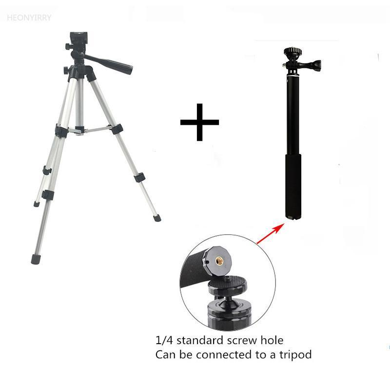 tripod-holder stand extension-rod camera foldable Stand Screw 360 Degree Fluid Head Tripod Stabilizer Aluminum with clip