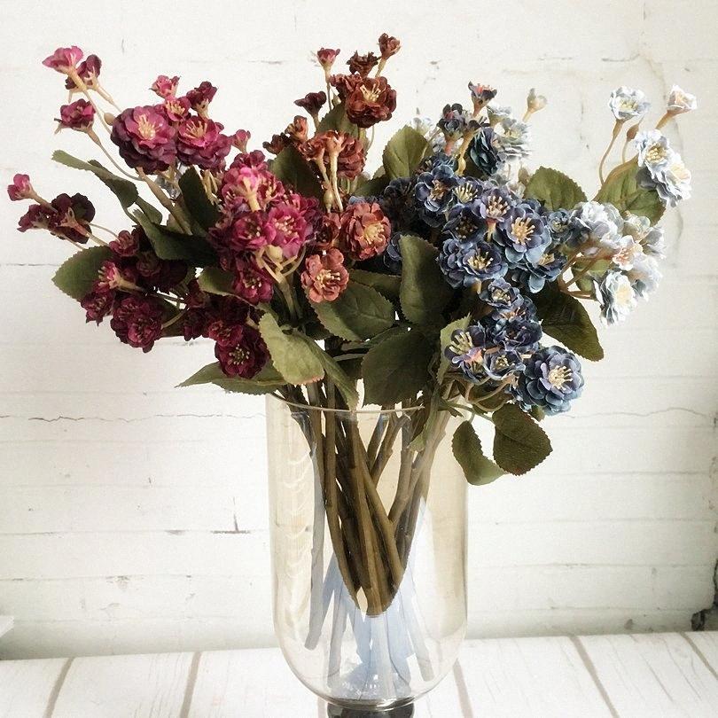 Европейская мини-розы филиал Искусственных цветов для домашнего украшения сада шелка поддельных цветов розы Flores artificiales sYy5 #