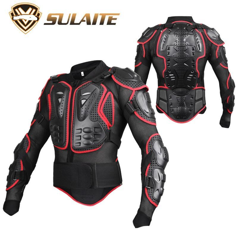 Мотогонок всего тела Защитной броня куртка черный Регулируемые лямки лыжа Скейтборд Протектор передач S-XXXL