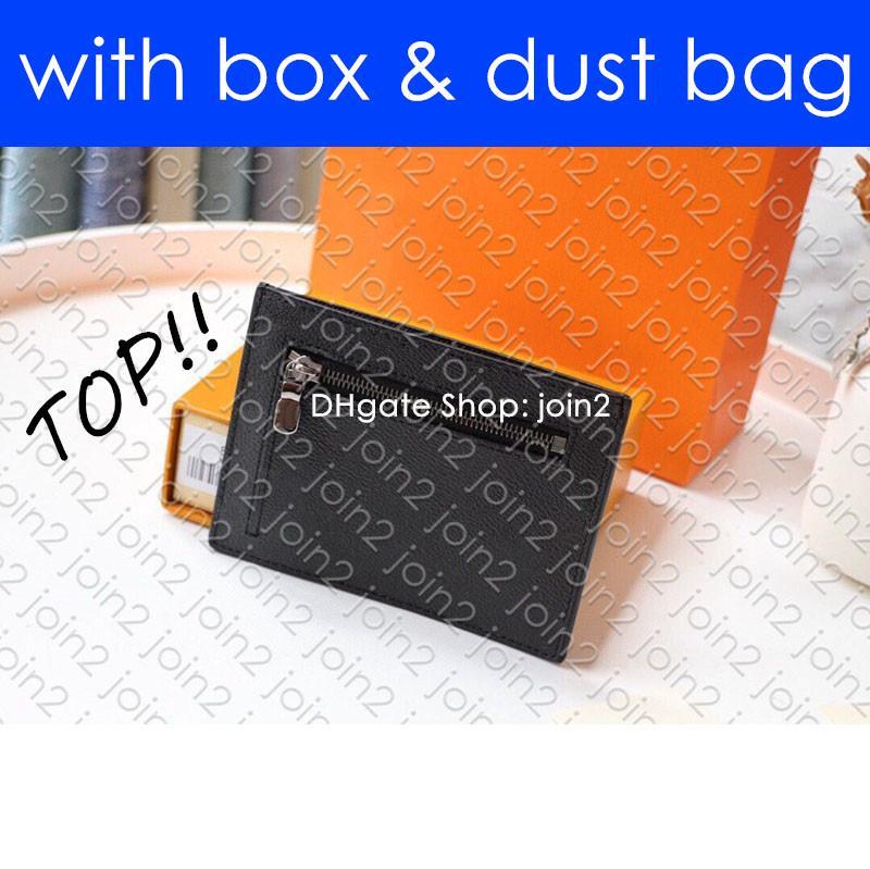 N60378 ID TARJETERO diseñador para hombre Organizador de bolsillo múltiple Brazza Zippy XL carpeta dominante de la bolsa Pochette Cles Neo PORTE-carte d'IDENTITÉ