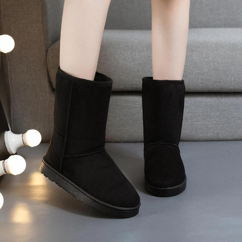 2020 Classic Lady Shoes High Quality Waterproof Leather Comfortable Snow Boots Fur Winter Boots Warm Women #tp1p