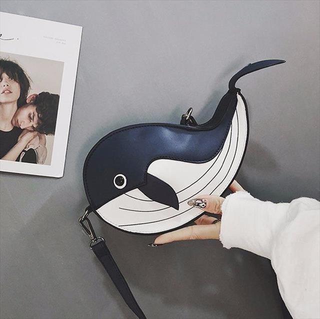 Carino Whale disegno dell'unità di elaborazione Leather Fashion femminile Flap Shoulder Bag frizione Crossbody Mini Messenger Bag per le donne libera di goccia Bolsa