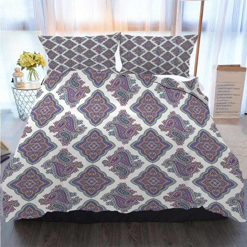 Natale di ringraziamento di Halloween 3 pezzi Copripiumino Set paisley pattern di base Quilt Bedding Consolatore letto di lusso