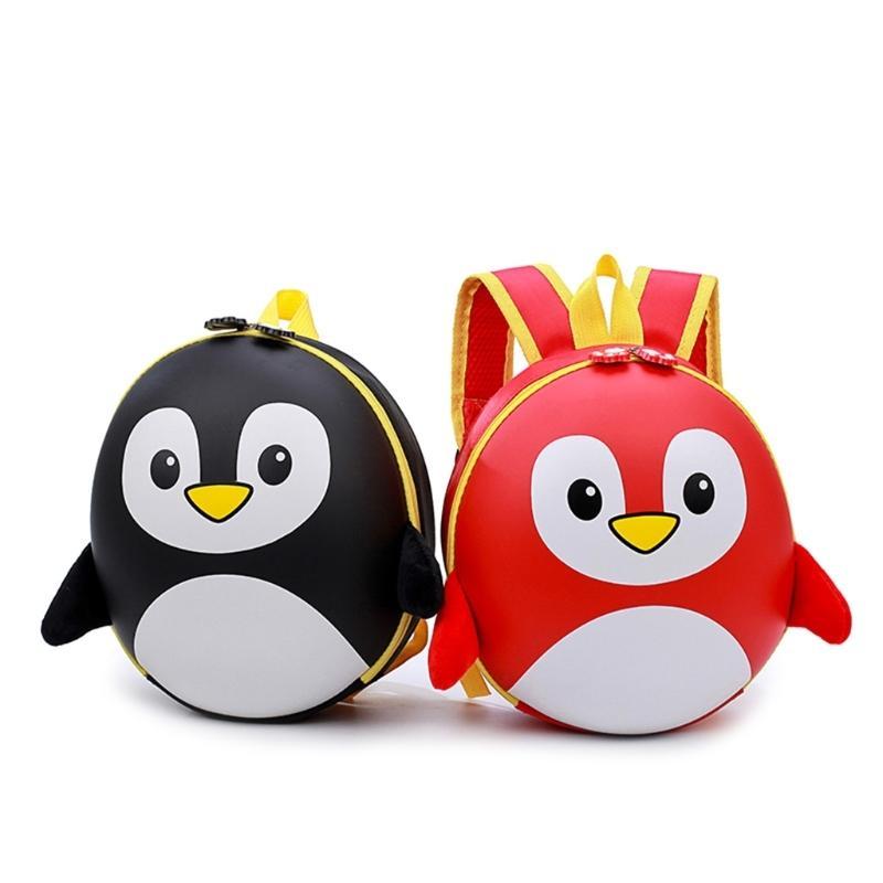 THINKTHENDO Baby Kids Boy Girl Penguin Casual Backpack Cartoon Small Shoulder School Bag New Q0112
