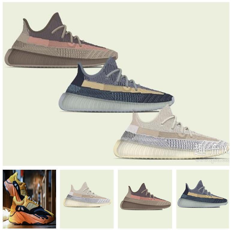 Chaussures de sport pour femmes 2021 Kanye West Sun Yecoraite Mode Vente en gros de la lumière Reflectif Casual Sport Sneakers Lotus Color Chaussure Taille 36-48