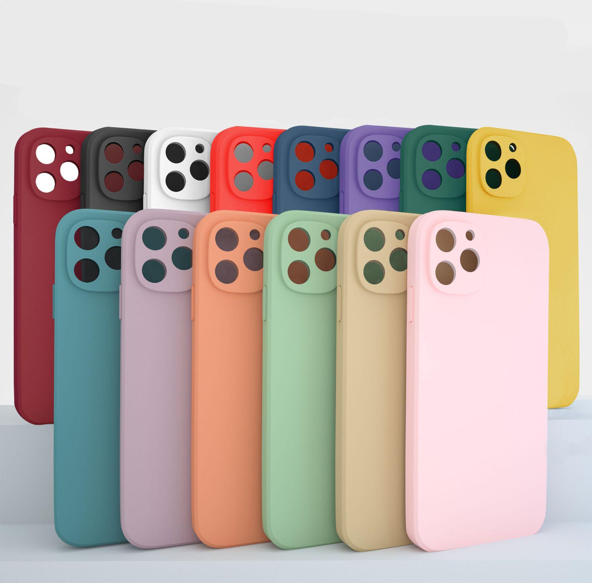 Cas de téléphone mobile Iphone 12 UV peint TPU Apple 11P Protecteur Apple 11xR Couverture anti-explosion DHL Livraison gratuite