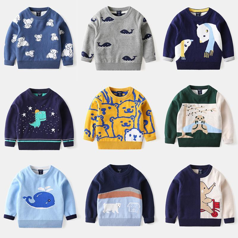 Детский свитер осень зима мода пуловер мультфильм Partern напечатанные мальчики свитера детские детские джемпер одежда