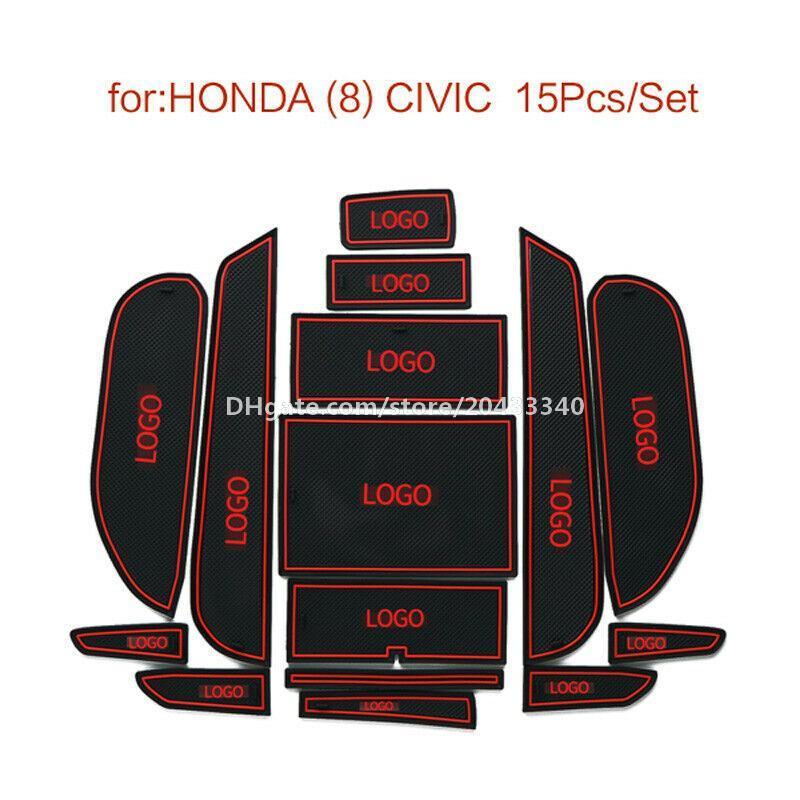 Auto-Tor Slot Pad Wasser Coaster Innen Anti-Rutsch-Matten für Honda Civic achten