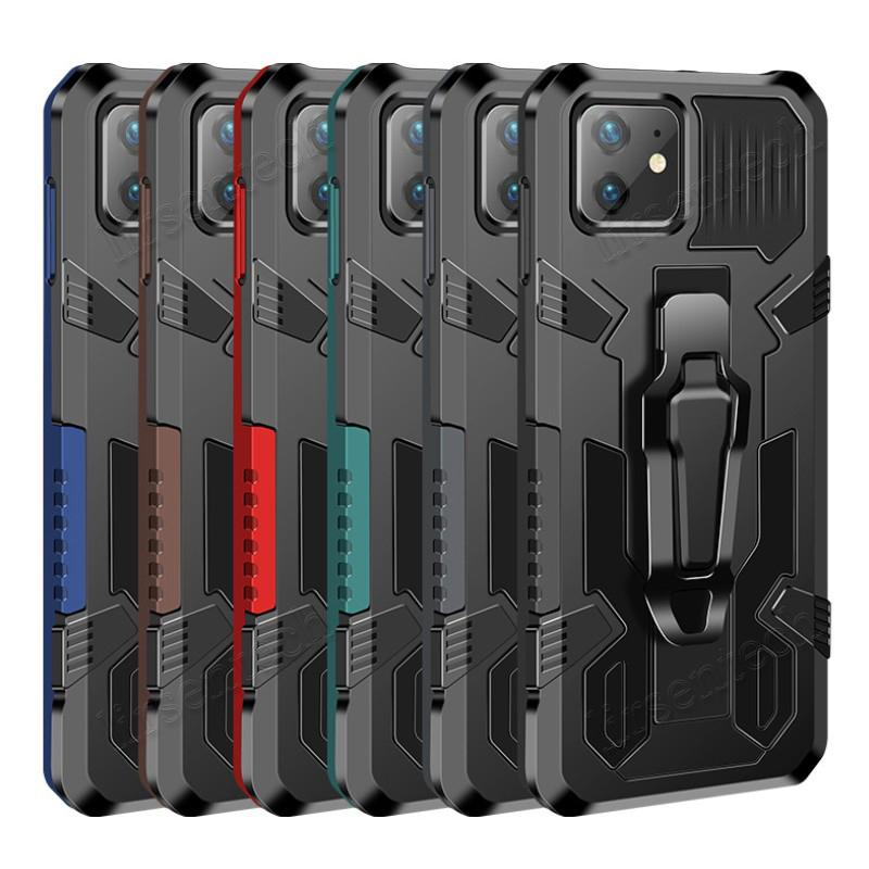 Cubierta de clip Funda a prueba de choque para iPhone 12 Mini 11 Pro Max XS XR Samsung S20 Fe Edition 5G Traje Ejecutar escalada Sports Free Ship