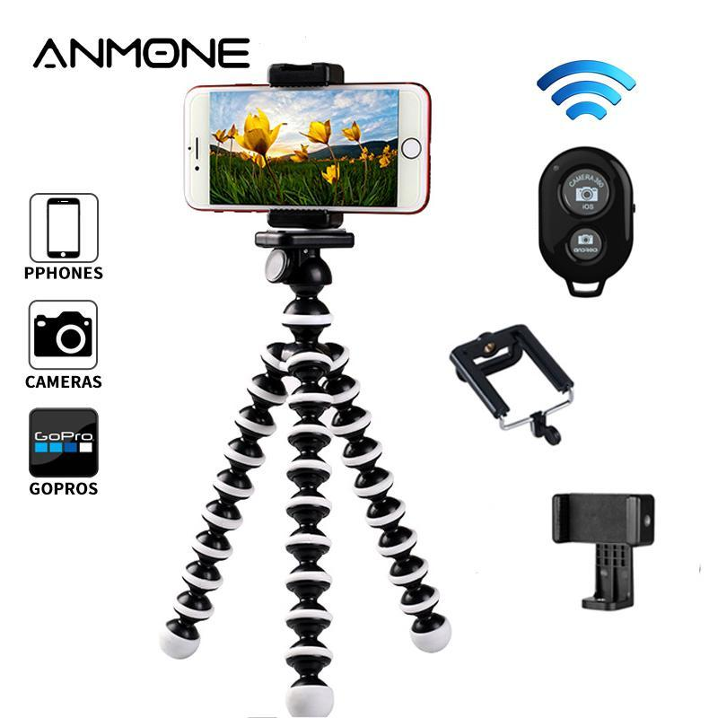 ANMONE Tripod For Smartphone Camera Flexible Octopus Stands Live Photography Tripod Bracket Mobile Phone Accessories