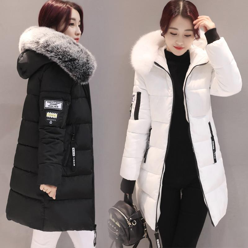 Factory Direct Sales Foreign Trade Large Size Women's Clothing 2020 New Winter Mid-length Down Jacket