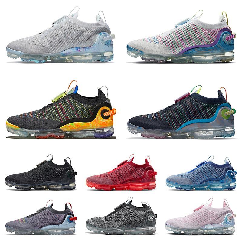 vapormax 2020 flyknit vapor max 360 plus tn off white yeni varış spor ayakkabı mens womens koşu ayakkabıları Üçlü Siyah Zirve Beyaz Erkekler Eğitmenler Boyutu 36-45