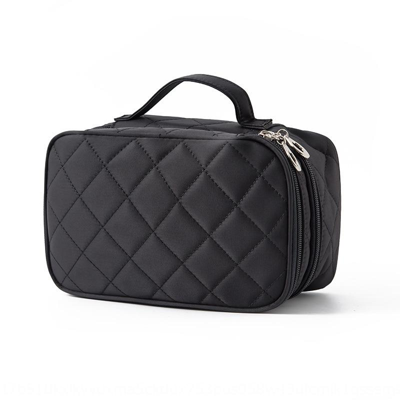 NLH6P impermeável lavagem de cosméticos de armazenamento Novo criativo rhombic cosméticos saco caso de nylon preta do espelho saco de armazenamento cVZX5