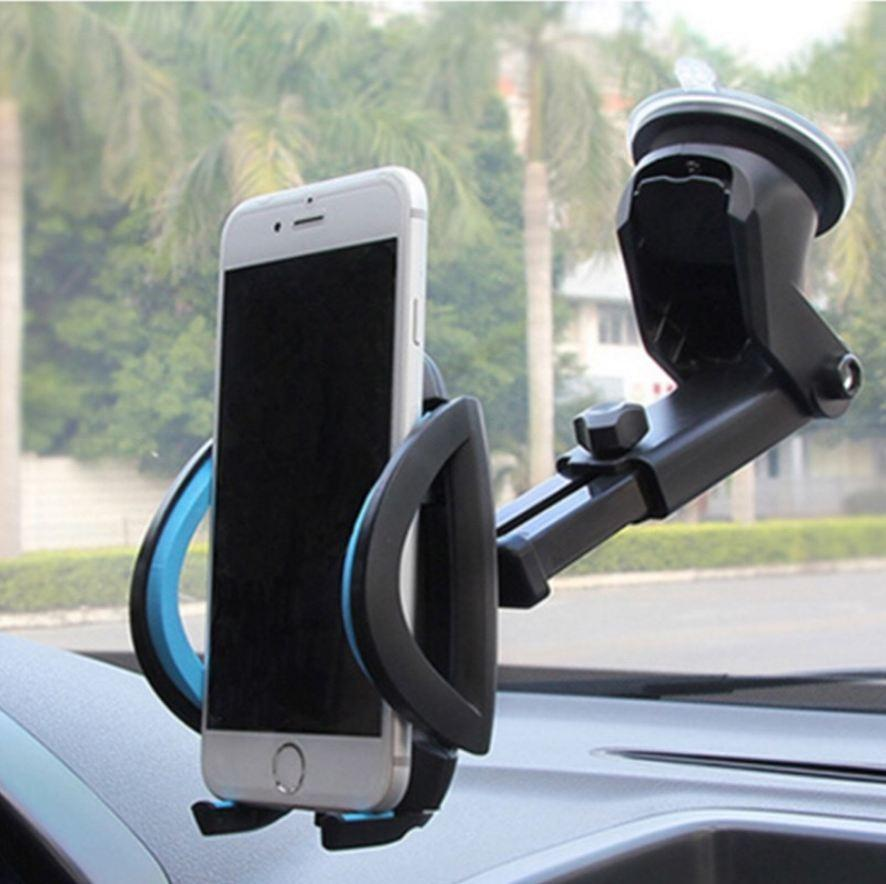 Car Phone Holder Gps Accessories Suction Cup Auto Dashboard Windshield Mobile Cell Phone Retractable Mount Stand (Retail )