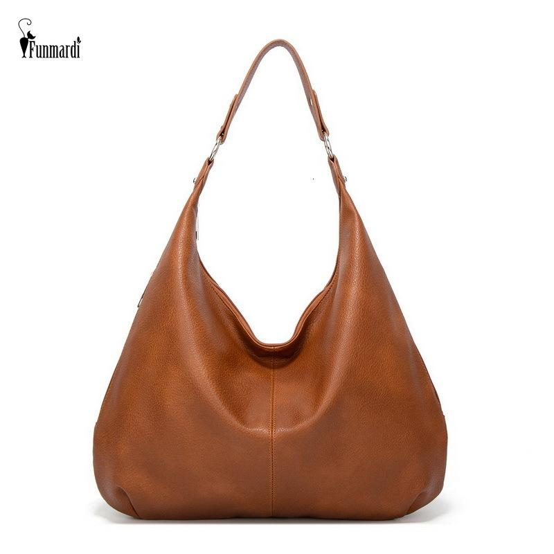 Funmardi Vintage femminile a tracolla in pelle Patchwork Fashion PU Donne Hobo Bag Ladies Handbag Grande borse casual Tote WLHB2181