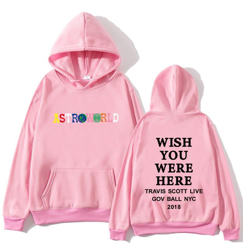 Travis Scott Astroworld Espero que você esteja aqui hoodies moda nova cartas astroworld hoodie streetwear homens mulheres pulôver camisola
