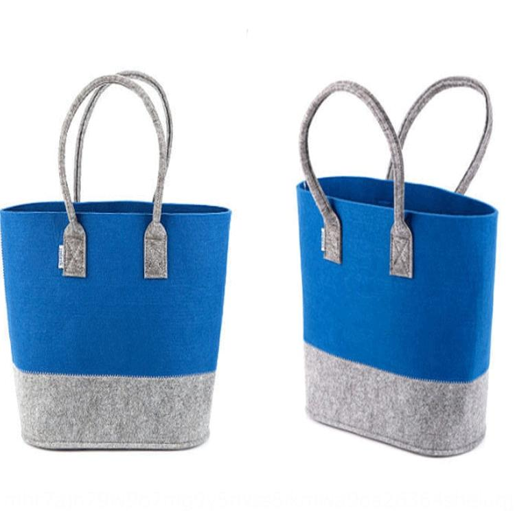 cLeGL Felt kTux7 mano panno mano semplice sentiva shopping bag supermercato borsa moda