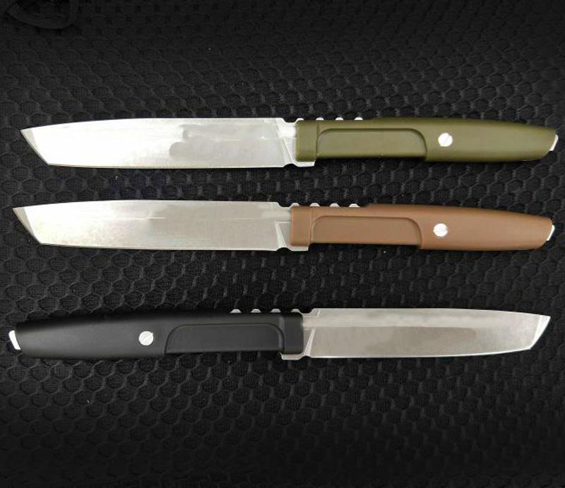 Promotion Survival Straight Knife D2 Stone Wash Blade Full Tang Nylon Plus Glass Fiber Handle With ABS K Sheath
