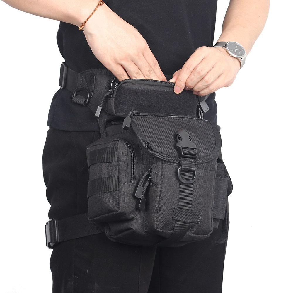Táctica pierna de la gota bolsa de nylon 1000D Molle Cinturón paquete de la cintura de los hombres del paquete de Fanny caza al aire libre que acampa impermeable de la bolsa EDC