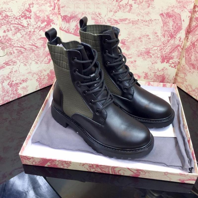 الأحذية 2021 النساء أزياء منصة أسود فاخر مصمم p ماركة جلد طبيعي اليدوية الخريف الشتاء الأخضر الأحذية 1