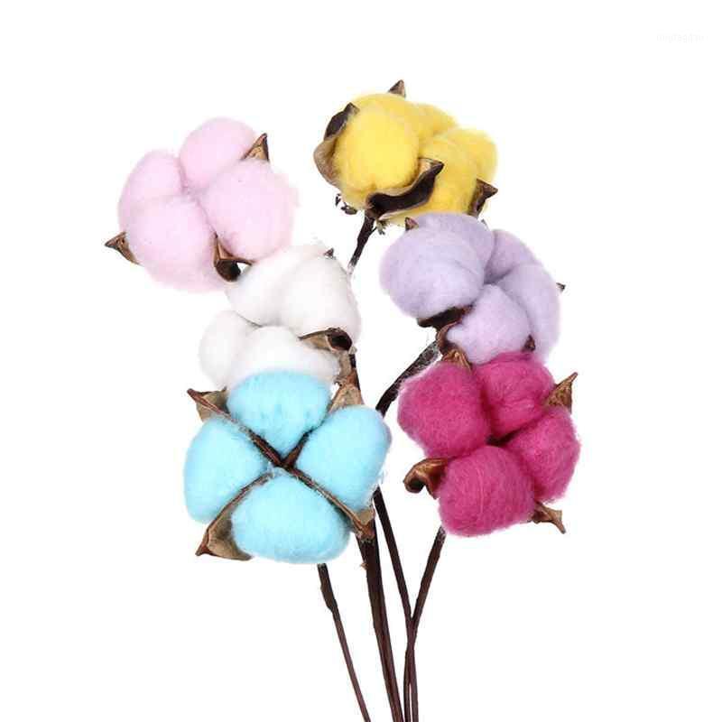 Декоративные цветы венки 10 шт. Хлопок голова искусственный цветок ветвь браслет подружка невесты вечеринка декор DIY букет поставляет PO ROPS1
