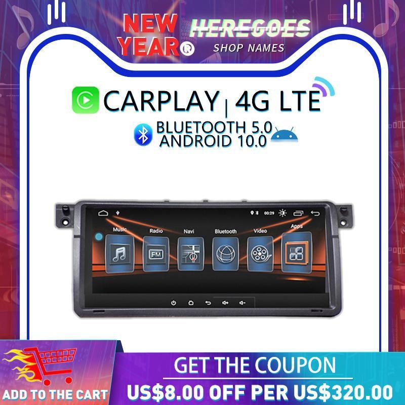 """플레이어 Carplay DSP 8.8 """"IPS 안드로이드 10.0 4G + 128GB 자동차 DVD GPS 네비게이션 자동 라디오 스테레오 오디오 3 E46 M3 Rover 75 mg"""