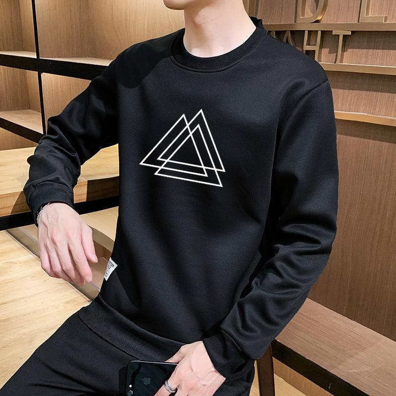 2020 automne chandail nouvelle usure des hommes de tendance T-shirt à manches longues chemise creux de la vague de T- Pull shirtmen ins mode HhvLc