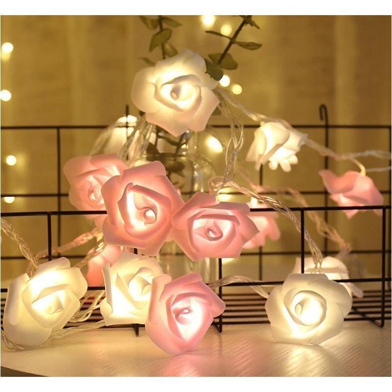Diseñador Máscaras de limpieza Organización de limpieza Garden2M 10LED Batería LED Rosa Día regalos de vacaciones Cadena de vacaciones Año Año Decoraciones navideñas para Ho