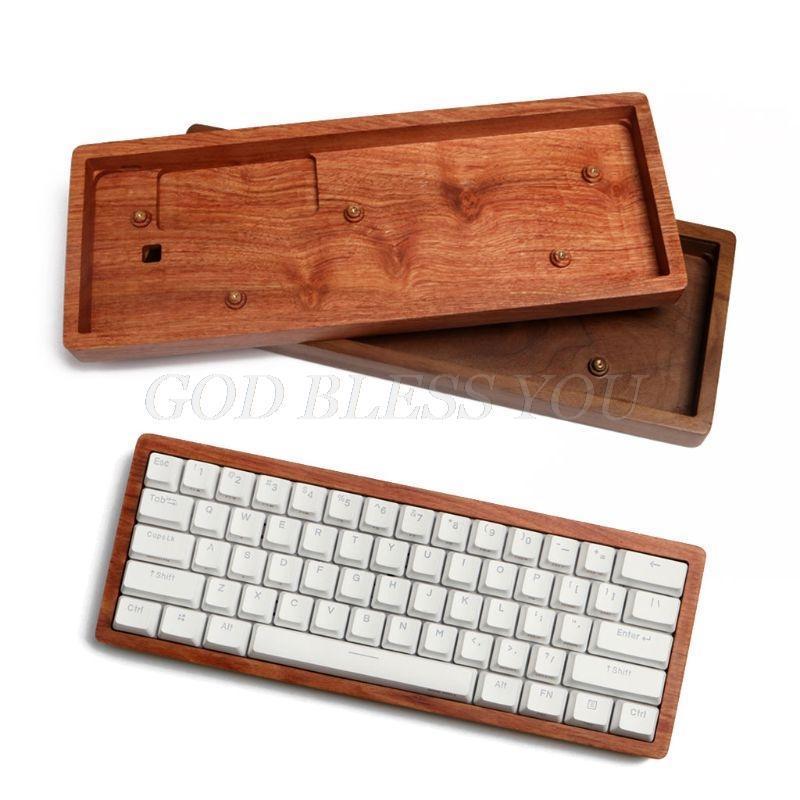 Boîtier en bois massif Coques personnalisées Base de noyer en bois de rose pour Anne Pro2 Clavier de jeu mécanique