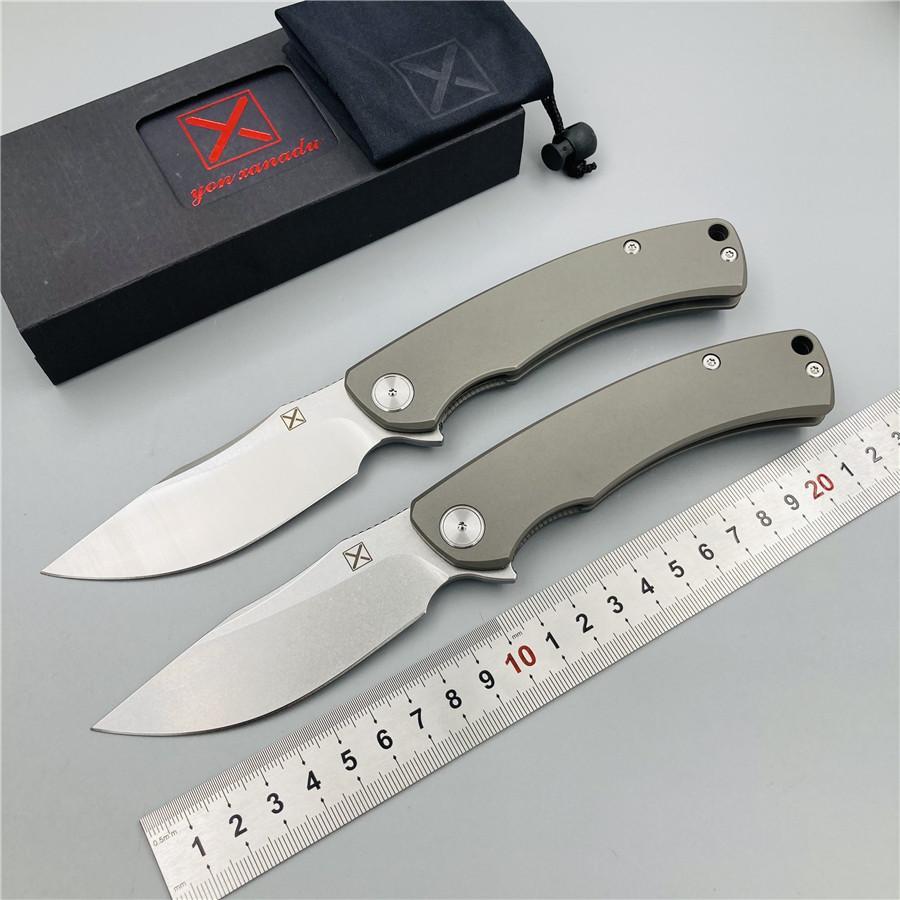 Frete grátis, YX-650 frete grátis originais explodir antiderrapante cinza titânio cabo da faca faca D-2 caça ao ar livre bolso sobrevivência faca EDC