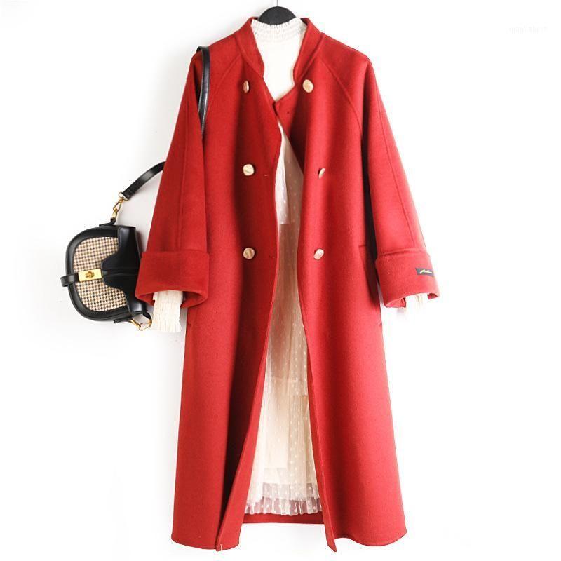 Casaco Feminino Abrigos Mujer Elegante Mulheres Casacos 90% Lã Dupla Casacos Longos e Casacos Mulheres Inverno Outono1