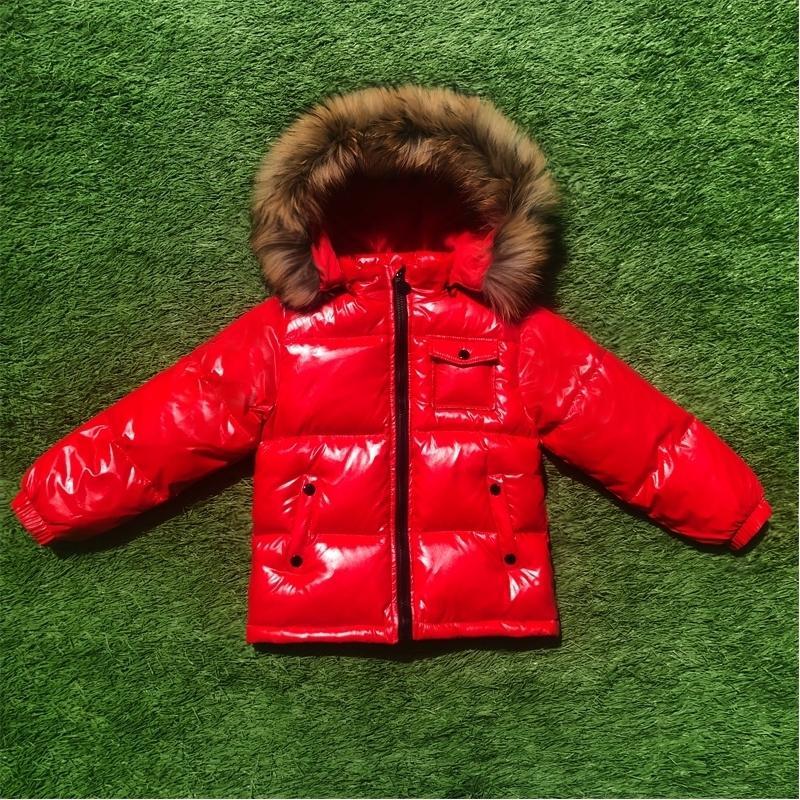 Moda inverno para baixo jaqueta para meninos 0-10 anos roupas infantiles engrossar outerwear casacos de pele real com capuz crianças casacos 201203