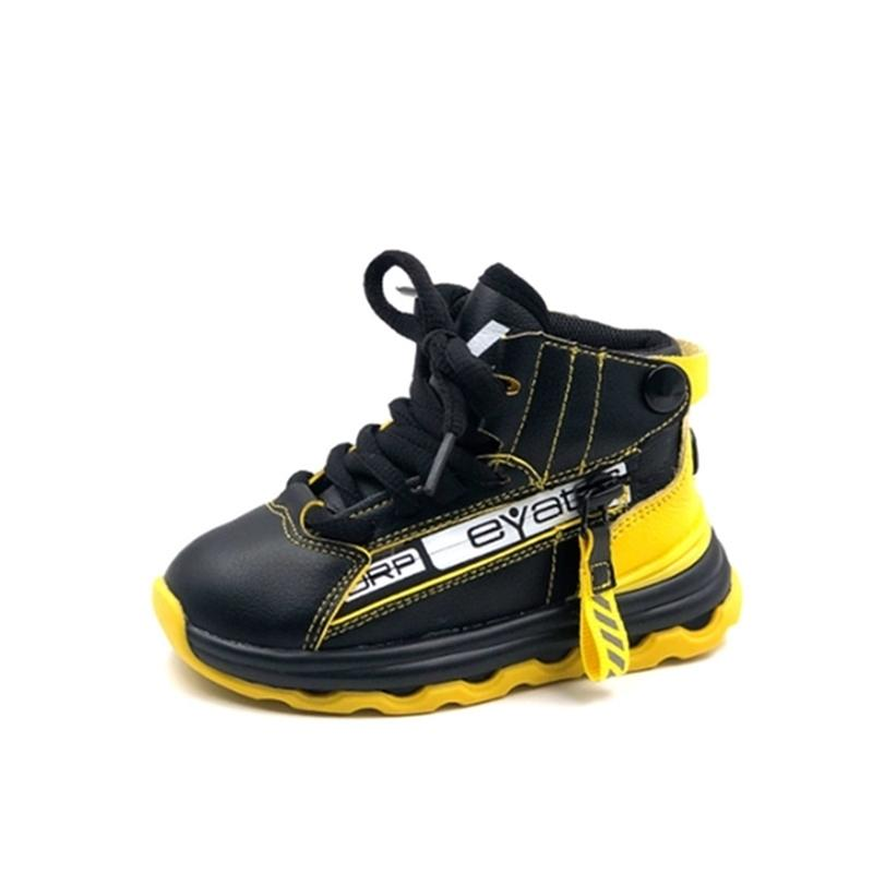Натуральная кожа детская мода девушки мальчики спортивные дышащие детские кроссовки мягкие единственные нескользящие малыши детские туфли Y201028