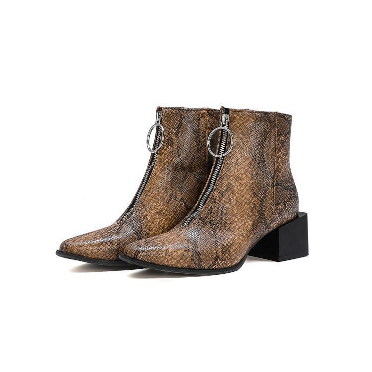 das mulheres botas de borracha Rocha Sapatos mulher Calçado de inverno Botas Ladies Zipper Cobra Designer Imprimir Luxo Botas-mulheres de chuva 2020