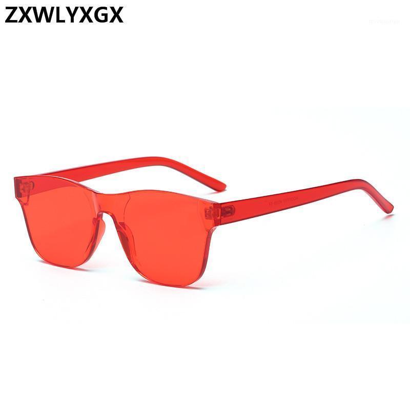 Design Fashion RIMLENT Солнцезащитные очки Площадь Зеркало Женщины Конфеты Очки Море Цвет Винтаж Солнце Оригинал Новый Trend1 HSCEC