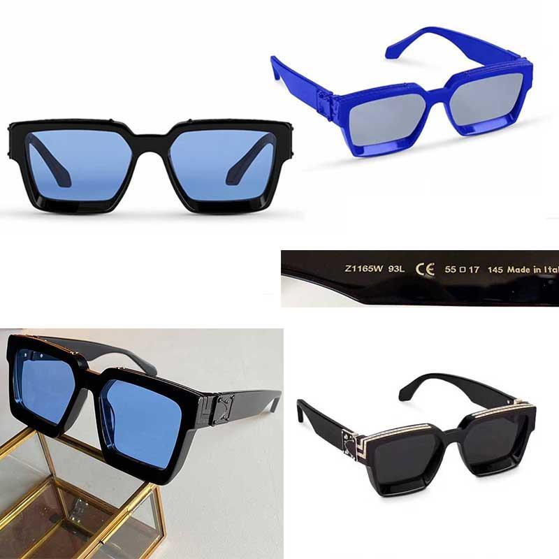 2020 OFICIAL OFICIAL COLOR 96006 Moda Gafas de sol Millionaire Marco cuadrado de calidad superior Continuo Continuo Retro Gafas decorativas con caja