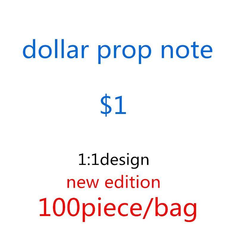 Vendite Festive Dollar Hot Fake Games Prop Toys-A15 Film 1 USD Bank Nota Designer US Designer Party Guanti da giubbotti Collezioni Regali Conteggio Borse Beoul