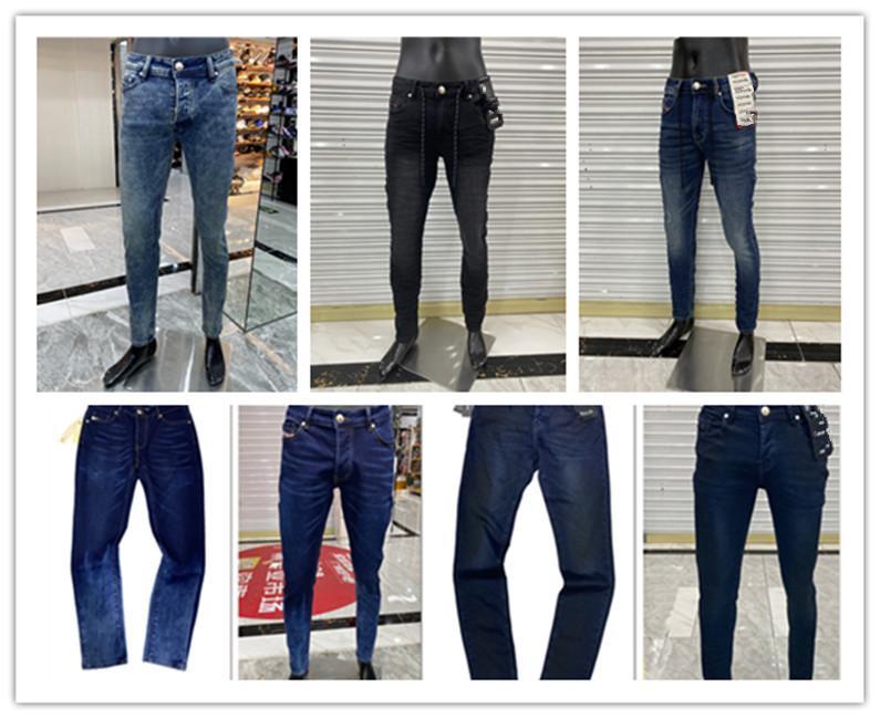 Дизайнерские мужские джинсы хип-хоп брюки тонкие джинсы огорчены разорванный велосипед джинсовые джинсы мотоцикла