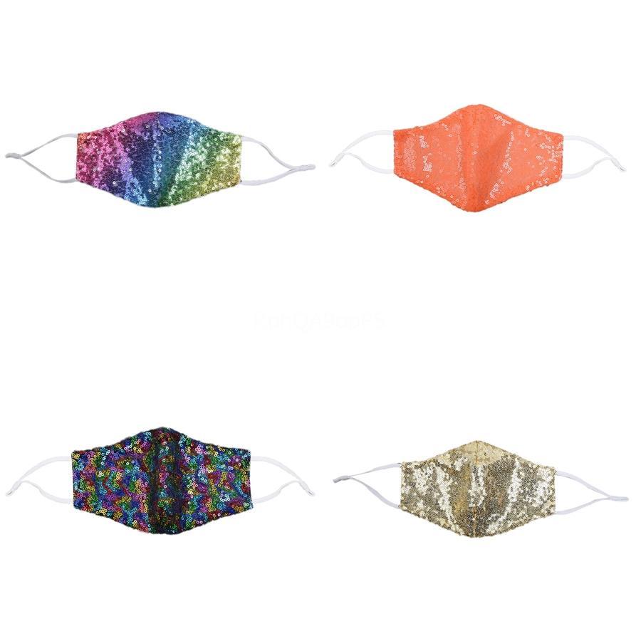 Masques Mode BlingBling Sequin Paillette DesignerMask WashableAdult Masques de protection Masque Mascarillas réglable # 956